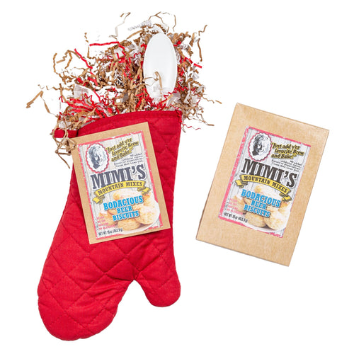 BODACIOUS BEER BISCUIT MIX IN A MITT GIFT SET