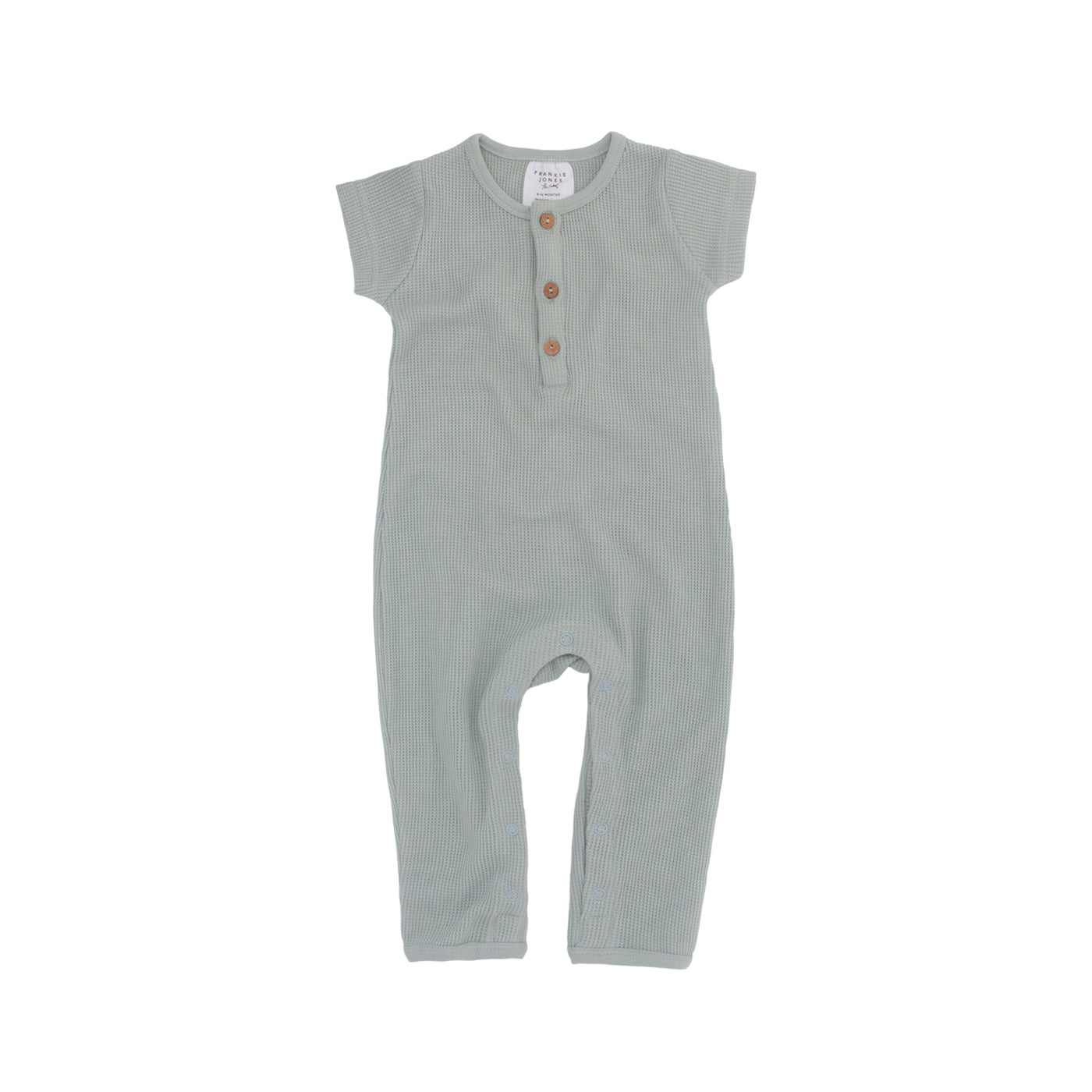 Phoenix Waffle Romper - Duck Egg Blue (last one, size 2-3 years)