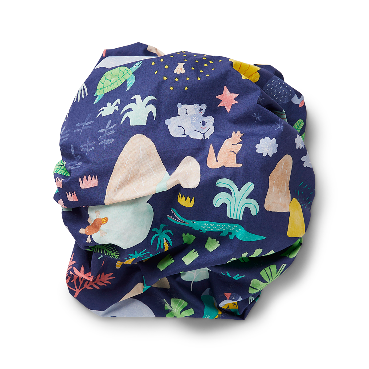Beach Forest Fitted Cot Sheet