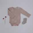 Shadow Pink Henley Bodysuit