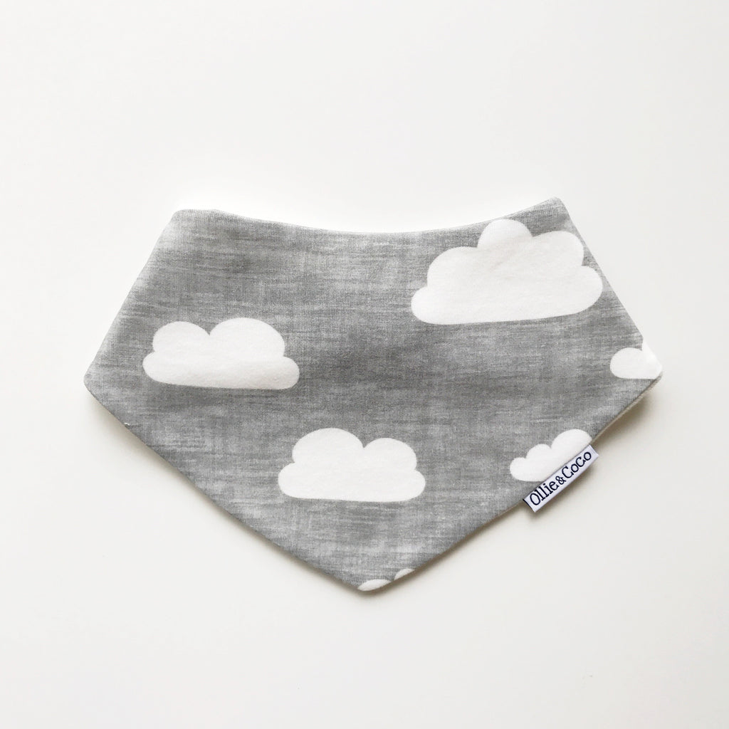 Grey Clouds Bib