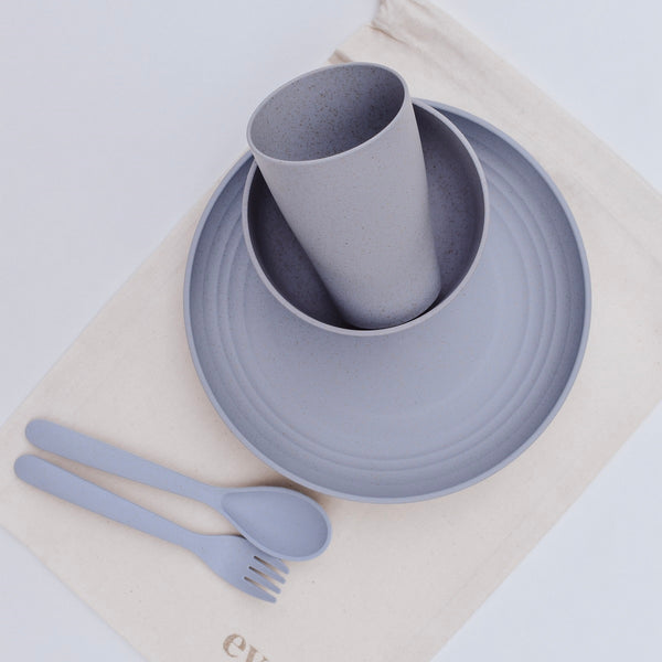 Weatstraw Dinner Set - Blueberry