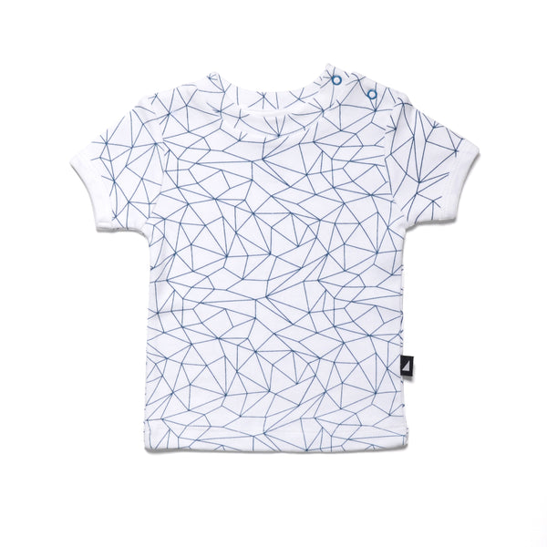 Fractured Tee in White/Navy (last one, size 0-3 months)