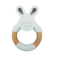 Grey Bunny Teether