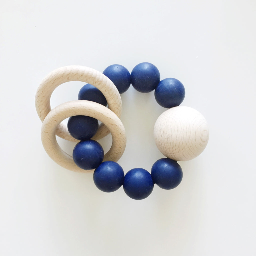 Navy Saturn Teether