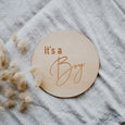 'It's A Boy' Single Wooden Announcement Disc