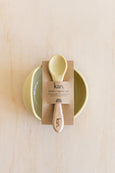 Silicone Bowl + Spoon - Beige