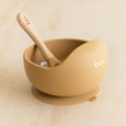 Silicone Bowl + Spoon - Tan