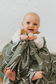 Ocean Swaddle (Organic Cotton + Bamboo)