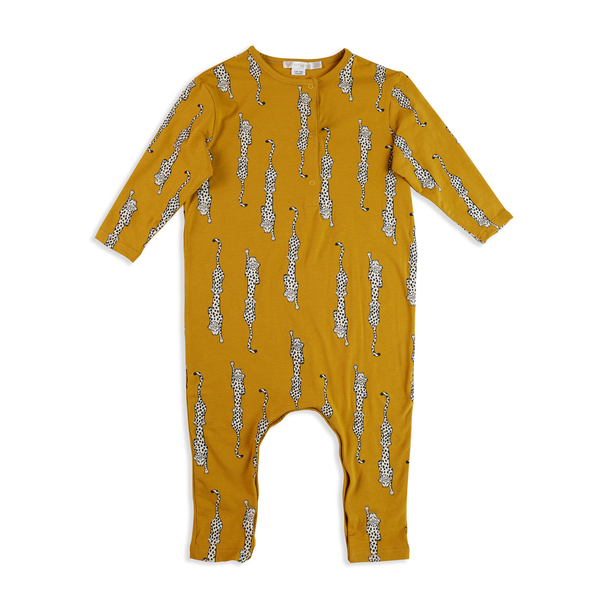 Button Up Onesie - Leopard