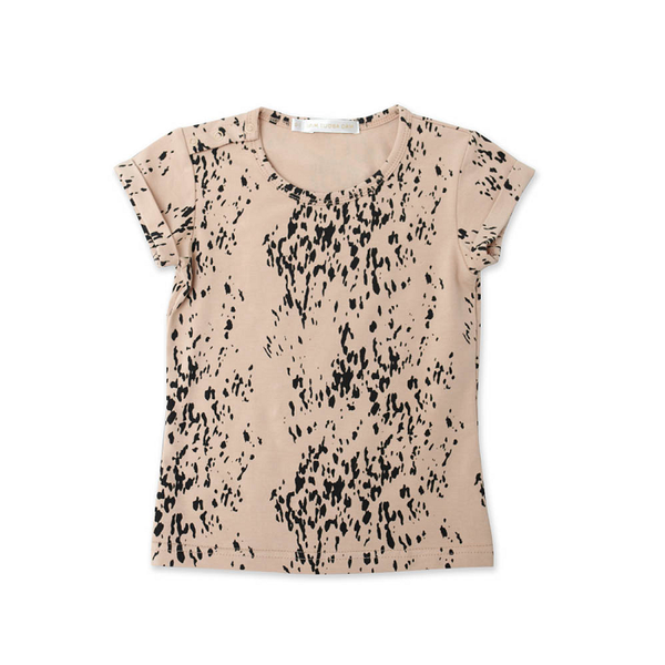 Sea Leopard Nude Rolled Sleeve Tee (last one, size 3-6 months)