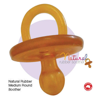 Round Natural Rubber Soother/Dummy - Medium