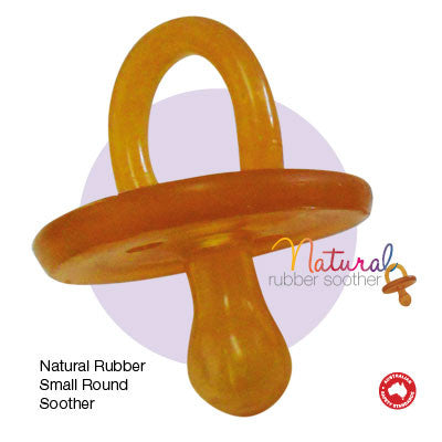 Round Natural Rubber Soother/Dummy - Small
