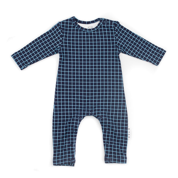 Grid Romper (last one, size 00)