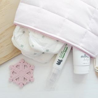 Pink Salt Nappy Clutch (with camera attachment)