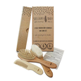 3 Piece Wooden Baby Hairbrush and Comb Set