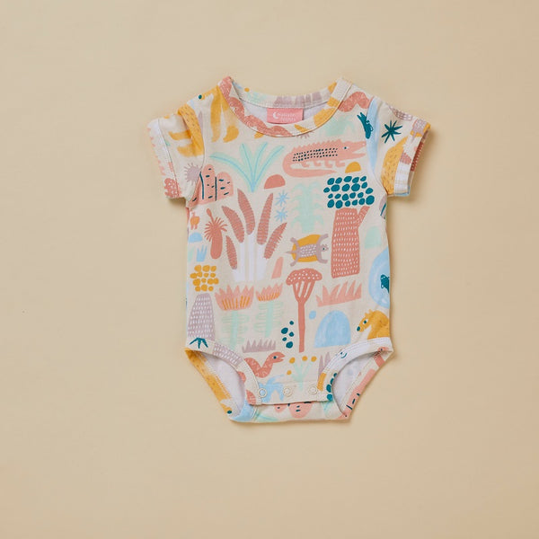 Sunset Kakadu Short Sleeve Bodysuit (last one, size newborn)