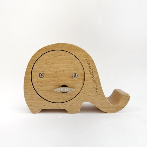 Wooden Musical Elephant - Raw