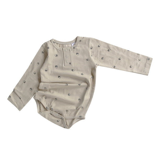 Acorn Henley Bodysuit (last one, size 2 years)