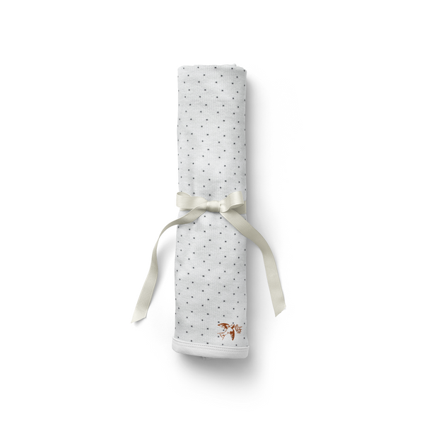 Snow Dotty Ribbed Swaddle