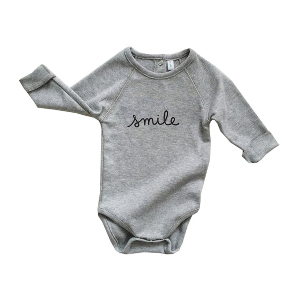Grey Smile Bodysuit
