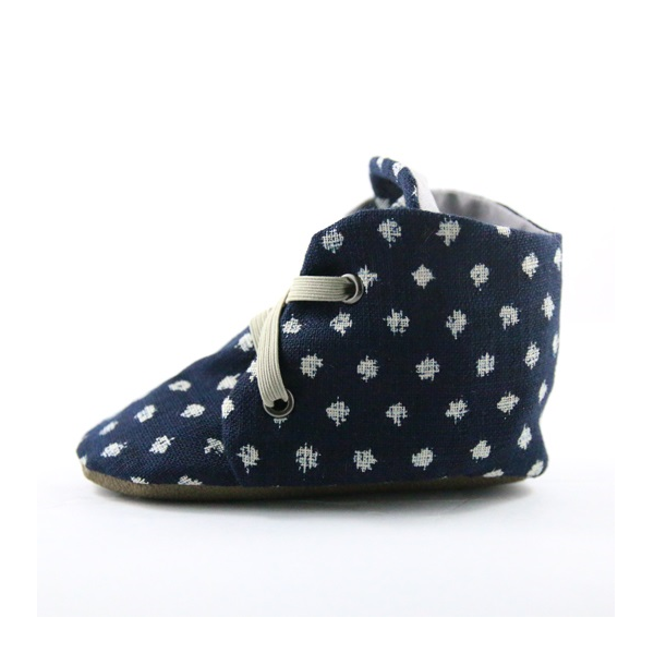 Linen Dot Booties (last one, 18-24 months)