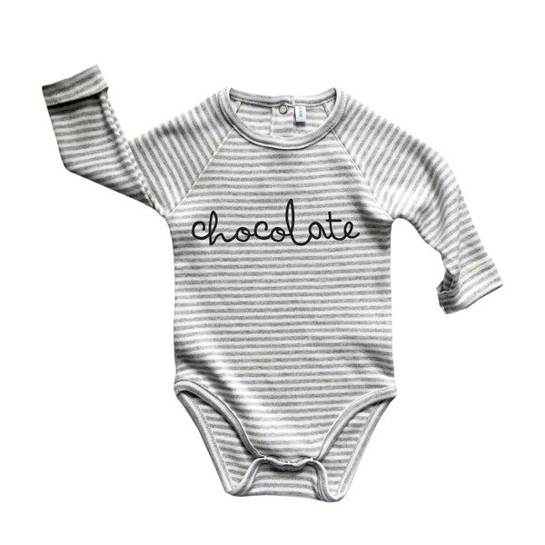 Grey Stripe Chocolate Bodysuit