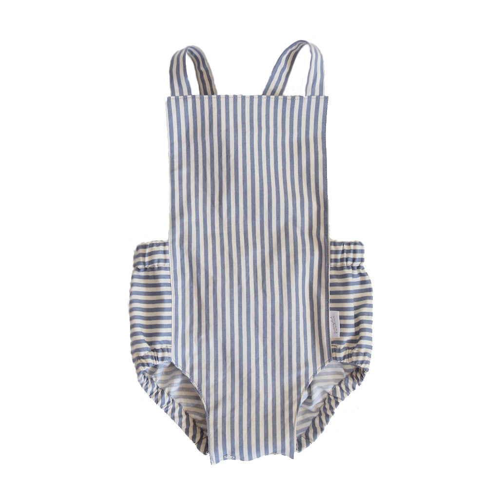 Grey Stripe Dune Romper