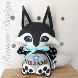 Personalised black fox