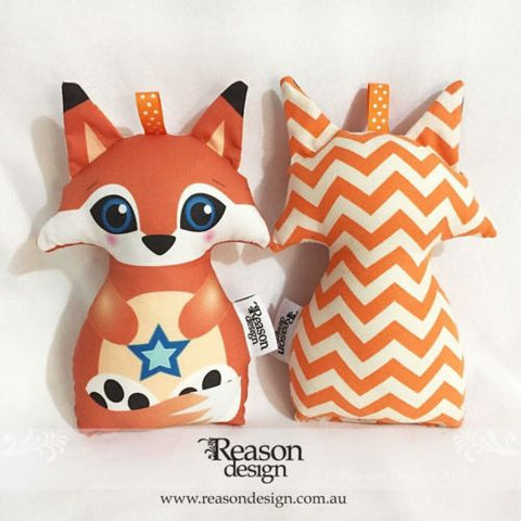 Orange chevron fox Rattle