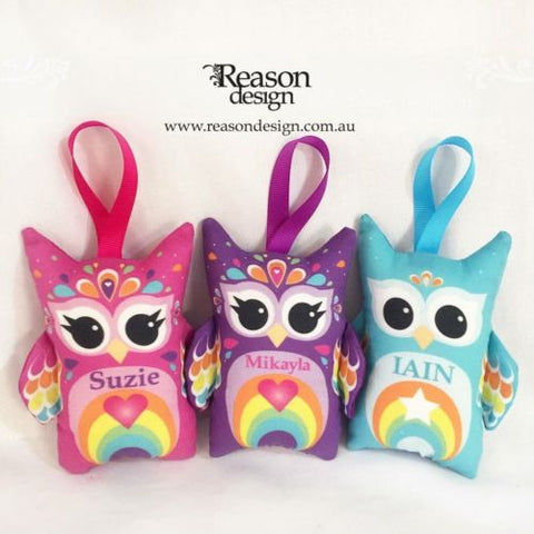 Mini Owl Personalised Decoration, girls/boys/xmas