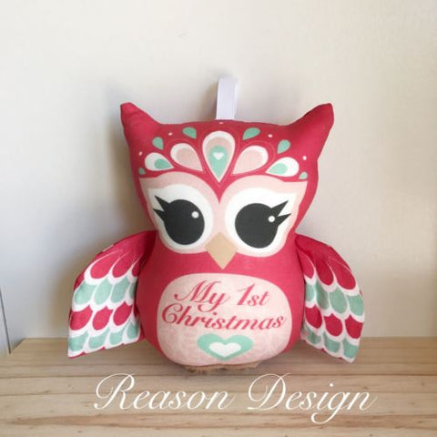 My first Christmas red owl rattle