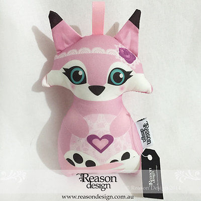 Pink fox Rattle baby