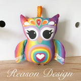 Rainbow owl rattle