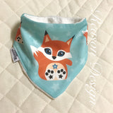 Orange fox bandana bib boy