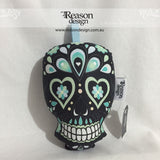 Black sugar skull rattle
