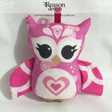 Hot pink owl rattle
