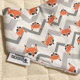 Grey chevron fox bib