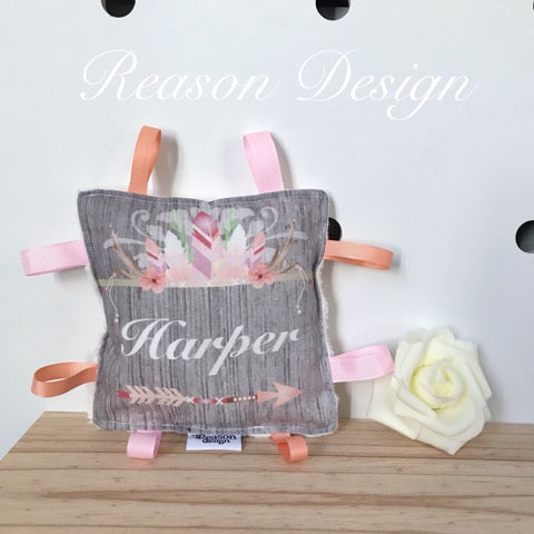 Personalised Squishy square Taggy Toy