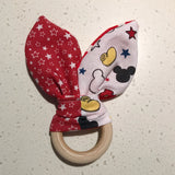 Wooden ring bunny ear teether