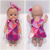baby born dress pink and purple