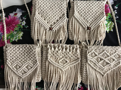 Boho Macrame cross body bag