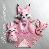 Personalised fox gift set