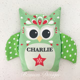 Personalised owl heat pack