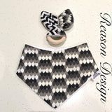Monochrome bandana bib and teether set