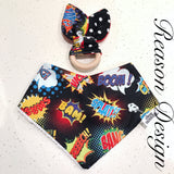 Super hero bandana bib and teether set
