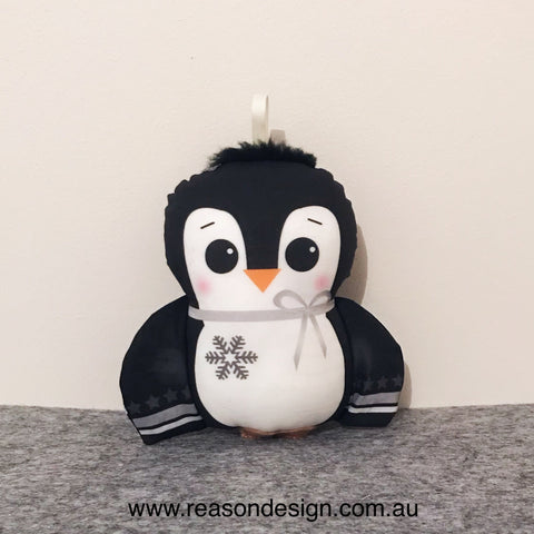Penguin rattle & snuggle buddy set