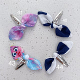 Fabric bow snap clip