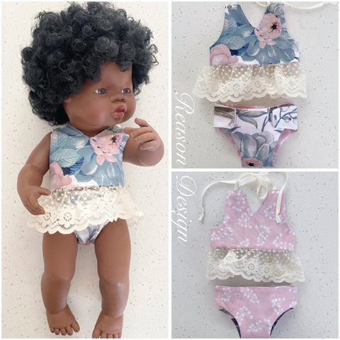 Medium doll 2pc halter top & nappy set