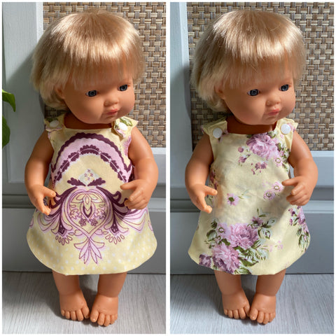 SALE reversible medium doll dress